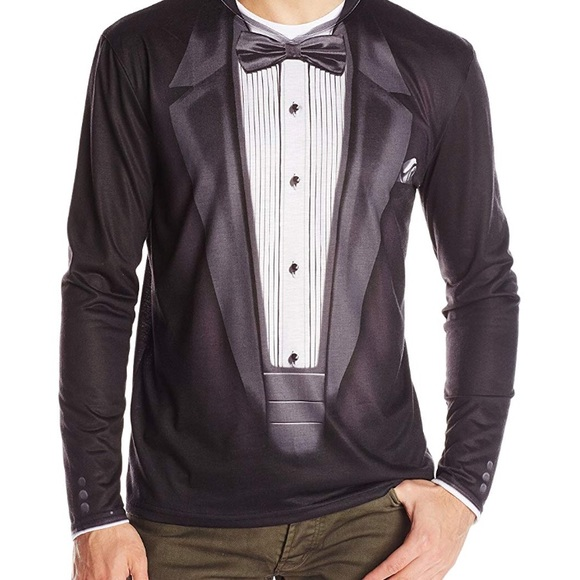 quality products latest sale the cheapest Long Sleeve Black Tuxedo T-shirt NWT